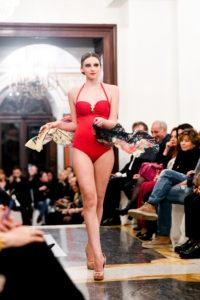 Sfilata dell'accademia di estetica Napoli Sirio Aja - Beachwear by Huitre