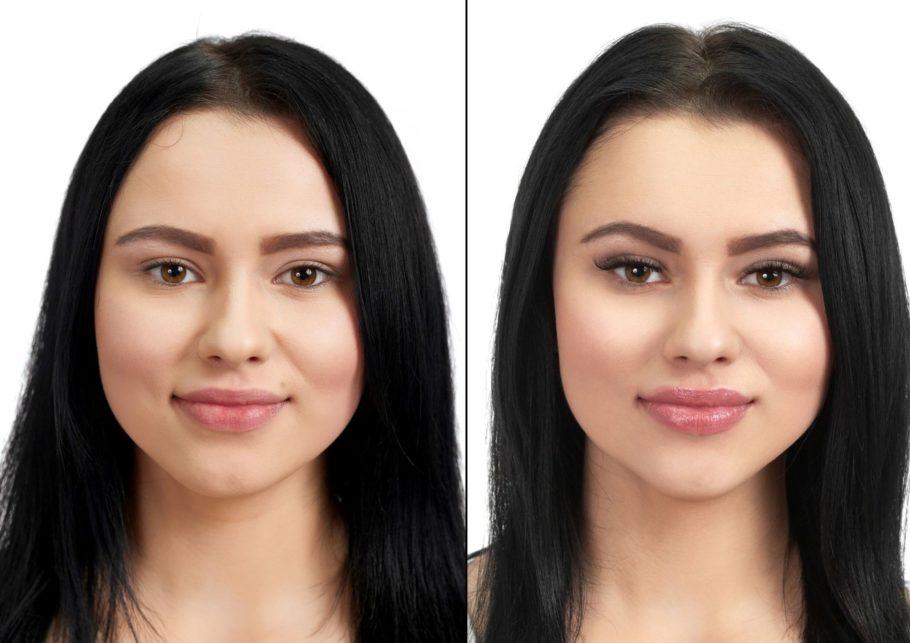 Effetto laminazione ciglia del corso lash lift tinta e botox